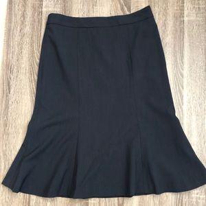 BR Navy Pinstripe Skirt